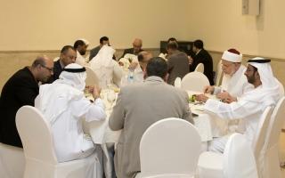 الصورة: حفل إفطار في الجامعة القاسمية