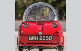 """الصورة: بالصور: تعرف على """" Peel Trident"""" أصغر سيارة في العالم"""