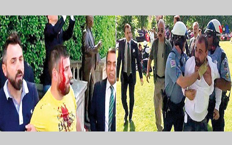 اعتقال شخصين بسبب شجار خلال زيارة أردوغان لأميركا