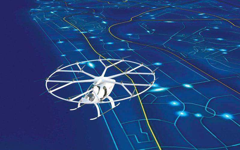 التاكسي الجوي ذاتي القيادة يعمل بالطاقة الكهربائية ويمتاز بمواصفات أمان عالية. من المصدر