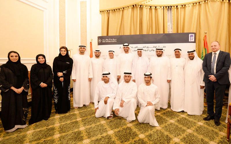 توقيع اتفاقية امتياز لـ35 عاماً بين «موانئ أبوظبي» وهيئة ميناء الفجيرة