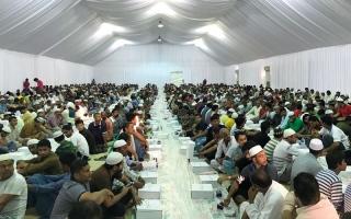 الصورة: «جي 4 إس» توزع 50 ألف وجبة إفطار