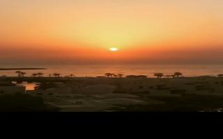 """الصورة: بالفيديو...شاهد غروب شمس رأس الخيمة بالـ """"time lapse"""""""