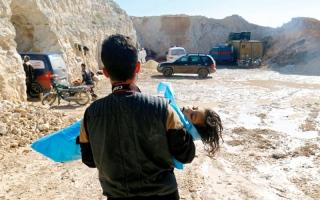 الصورة: فرنسا وألمانيا تؤكدان تقرير «الكيماوي»  في هجوم خان شيخون السورية.. وروسيا تشكّك