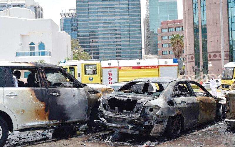 الصورة: 4 وفيات و35 إصابة في 596 حريقاً بمركبات خلال 6 أشهر