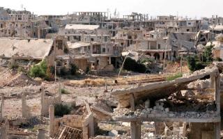 الصورة: «قسد» تتقدم في الرقة وتواجه معارك عنيفة مع «درع الفرات» شرق حلب