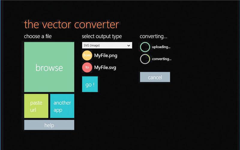 The Vector Converter.. تحويل صيغ الملفات عبر السحابة وحفظها على الحاسب