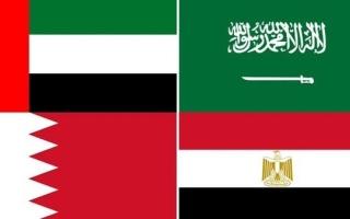 الصورة: الإمارات والسعودية والبحرين ومصر يصدرون بيانا مشتركا للرد على إدعاءات وزير خارجية قطر