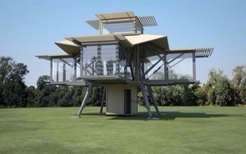 الصورة: بالفيديو..  منزل متنقل قابل للطي