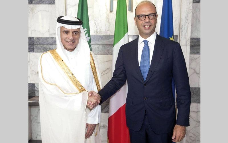الصورة: الجبير يدعو قطر إلى الاستجابة إلى المطالب من أجل فتح صفحة جديدة