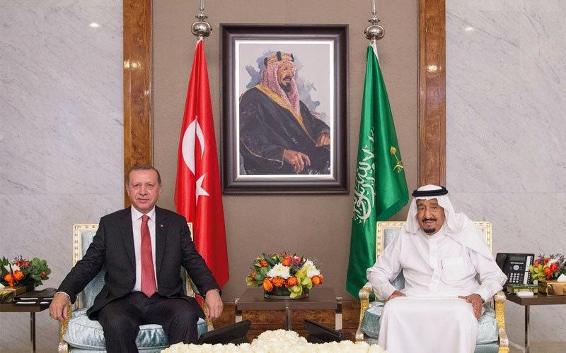 الصورة: سلمان وأردوغان يبحثان مكافحة الإرهاب ومصادر تمويله