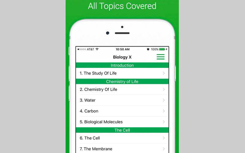 Biology X: College and AP Bio.. لمساعدة الطلبة في دراسة علم الأحياء