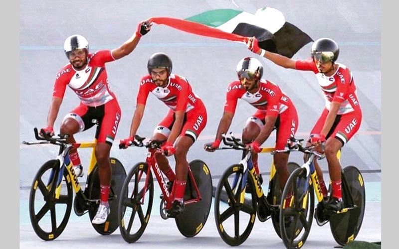 الصورة: «دراجات الإمارات» تواصل الاستعداد لدورة الألعاب الآسيوية