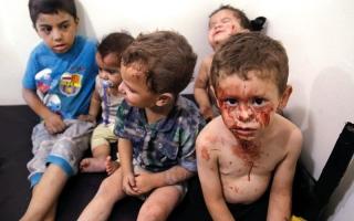 الصورة: ضربات جوية وقصف تخرق هدنة دمشق