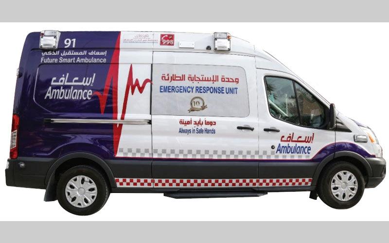 الصورة: بن دراي: «إسعاف دبي» تسبق المستقبل بسيارات ذكية