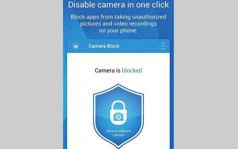 Camera Block - Spyware protect.. لحماية كاميرا الهاتف من برامج التجسس الخبيثة