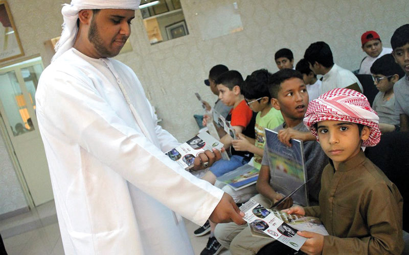 خلال إحدى فعاليات «السينما» في دبا الفجيرة.  من المصدر