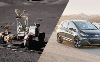 """الصورة: """"جنرال موتورز"""" تنقل تكنولوجيا السيارات الكهربائية بالكامل من القمر إلى الأرض"""