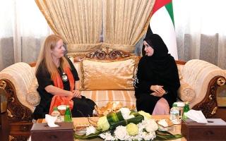 الصورة: القبيسي تبحث تطورات أزمة قطر مع سفيرة لوكسمبورغ