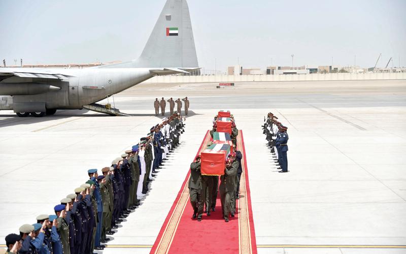 الإمارات تشيِّع جثامين شهداء الوطن