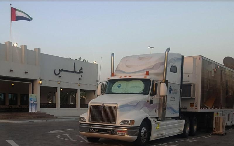"""الصورة: عيادة """"شركة صحة"""" المتنقلة تبدأ زيارة مجالس الأحياء في أبوظبي لإجراء فحوصات """"وقاية"""""""