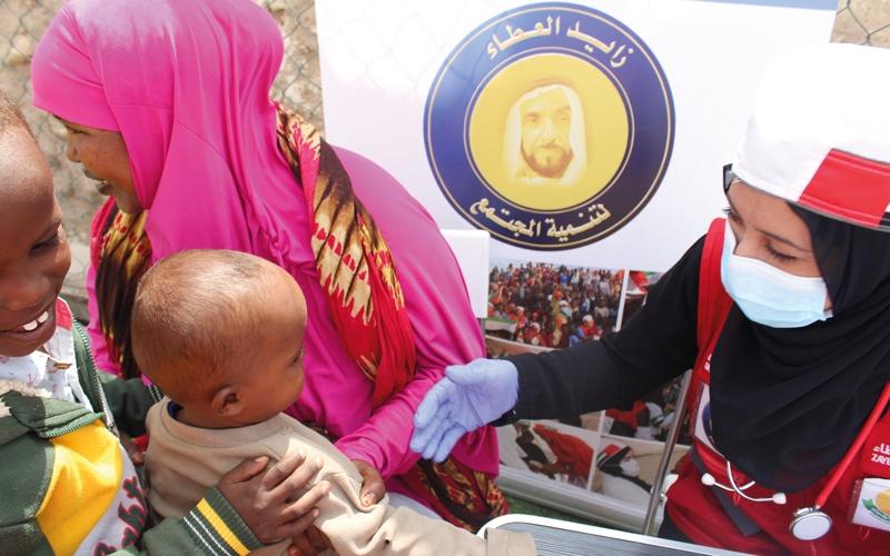الصورة: «قوافل زايد الخير» تعالج آلاف الأطفال والمسنين
