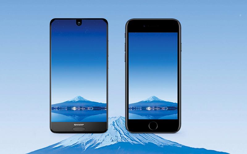الواجهة الأمامية لـ«أكوس إس 2» تبدو بحواف صغيرة للغاية مقارنة بحواف هاتف مثل «آي فون 7». من المصدر