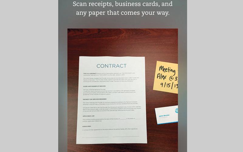 التطبيق يتيح تحويل بطاقات العمل الورقية إلى جهات اتصال رقمية. من المصدر