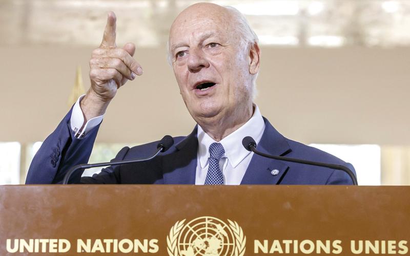 دي ميستورا: شهر أكتوبر سيكون «الحاسم» في الأزمة السورية. إي.بي.إيه