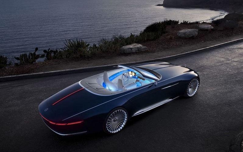"""بالصور.. """"مرسيدس مايباخ"""" تكشف عن """"فيجن 6 كابريوليه"""" أفخم سيارة مكشوفة في العالم"""