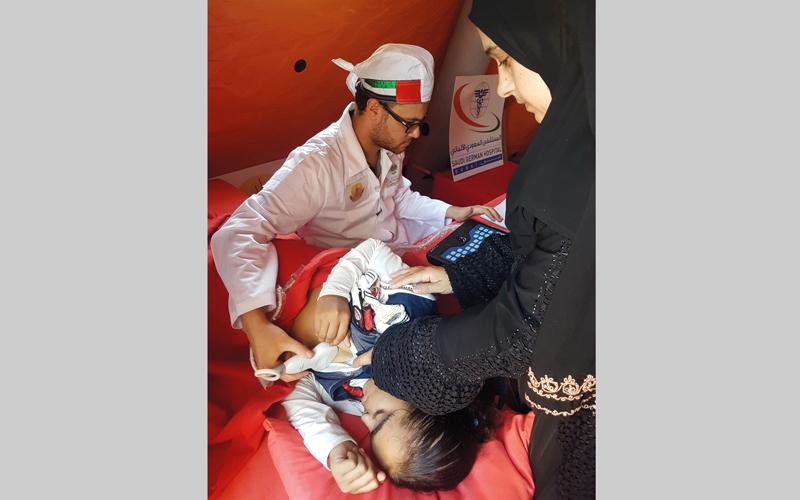 علاج 2000 طفل ومسن في ثاني أيام قوافل «زايد الخير» بمصر