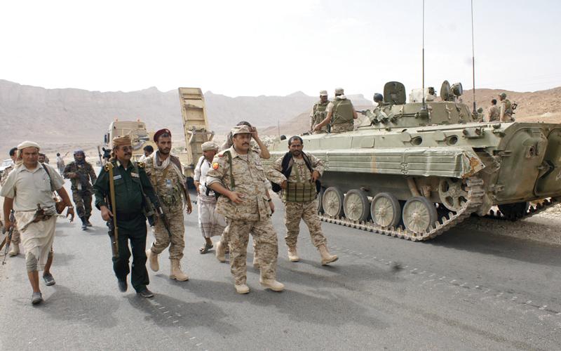 قوات الشرعية في اليمن هي المستفيدة من خلافات المخلوع والحوثيين. رويترز