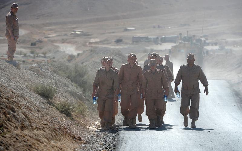 وجود القوات الروسية في سورية أثار حفيظة طهران. أ.ف.ب