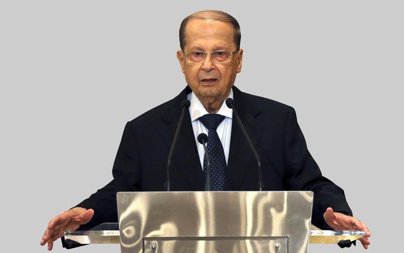 ميشال عون عين مبعوثاً رئاسياً لدمشق. أ.ب