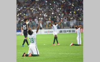 الصورة: السعودية الى كأس العالم 2018 بالفوز على اليابان