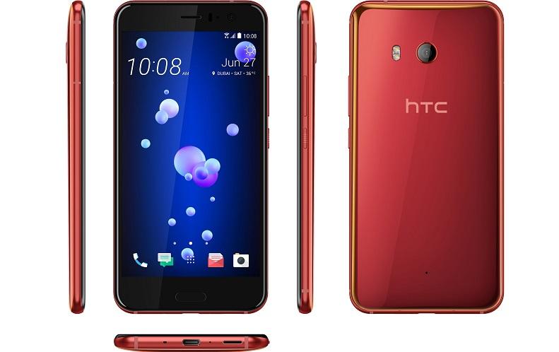 """هاتف باللون الأحمر الشمسي من """"إتش تي سي"""""""