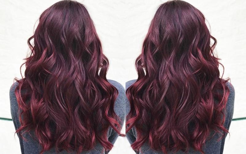 الصورة: الأحمر البرغندي على عرش ألوان الشعر