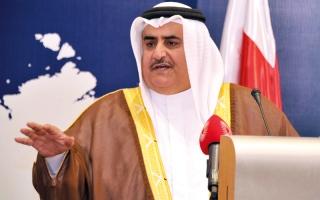 الصورة: وزير خارجية البحرين: سلبية قطر واضحة.. والتصعيد العسكري لم يأتِ منا
