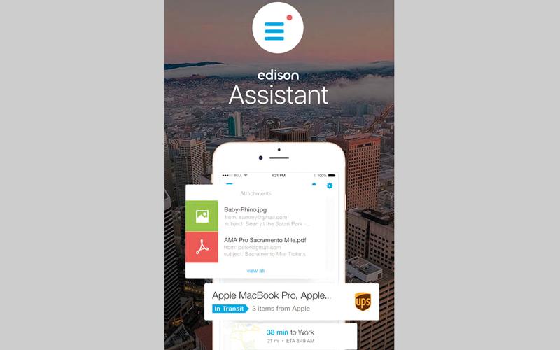 Edison Assistant.. مساعد ذكي لتنظيم أعمال المستخدم