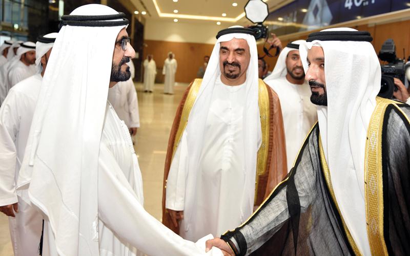 محمد بن راشد وحاكما عجمان ورأس الخيمة يحضرون أفراح آل لوتاه
