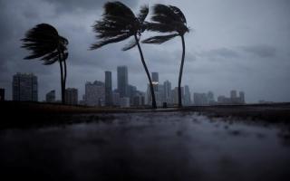 """الصورة: بالفيديو..""""إيرما"""" يُغرق شوارع ميامي ويكسّر رافعات البناء"""
