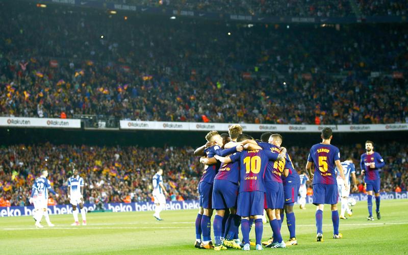 برشلونة يواصل انتصاراته المقنعة في الدوري الإسباني. أ.ب