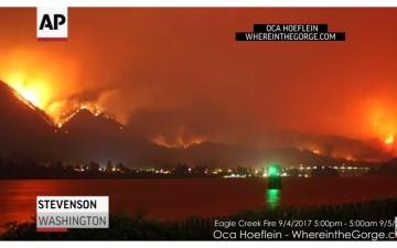 """الصورة: بطريقة الـ """"Time Lapse""""..تصوير حريق كبير في غابة بـ """"واشنطن"""""""