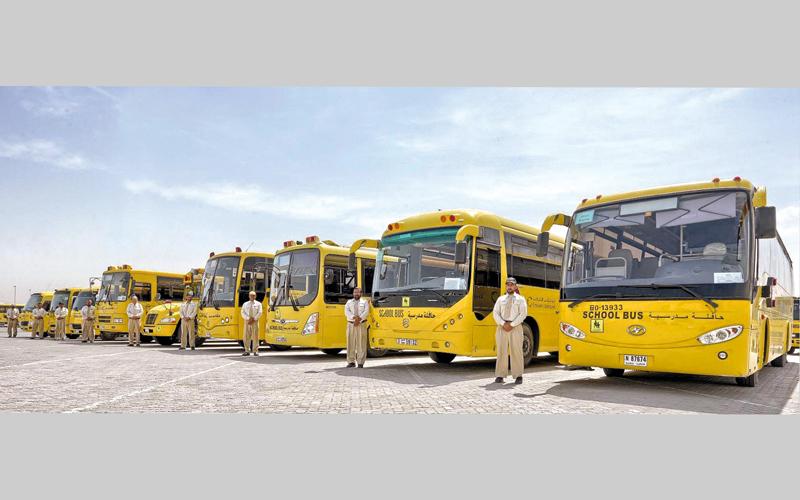 إضافة 303 حافلات جديدة إلى أسطول النقل المدرسي.  من المصدر