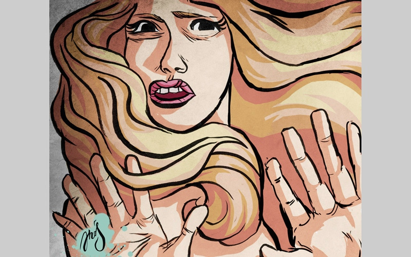 الصورة: عامل يحاول اغتصاب امرأة أثناء انتظارها في موقف حافلات