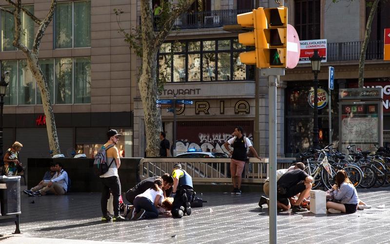 الصورة: الرسائل المتعددة للهجمات الإرهـــابية في برشلونة