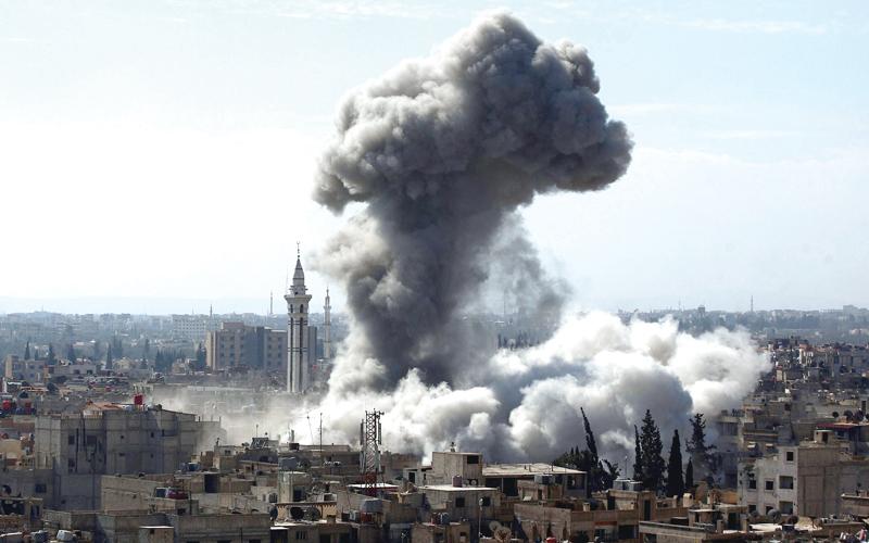 طهران دعمت النظام السوري الذي استخدم البراميل المتفجرة في المناطق المدنية من أجل تحقيق أهدافها التوسعية.  أرشيفية