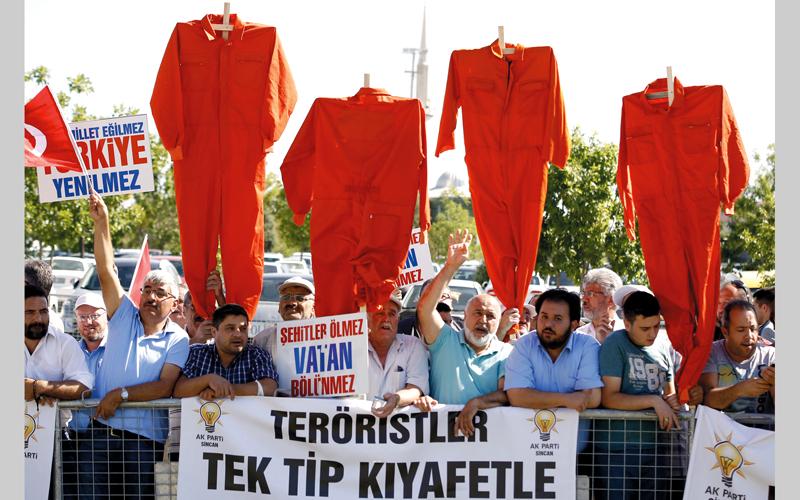 مؤيدون للرئيس التركي يطالبون بأقسى العقوبات للضالعين في الانقلاب.  أرشيفية