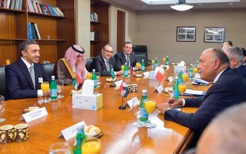 الصورة: السيسي: على قطر إظهار رغبتها  في عـــدم الإضـرار بمصالح الــدول العربية