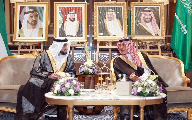الصورة: أحمد بن محمد يحضر حفل الاستقبال باليوم الوطني للسعودية